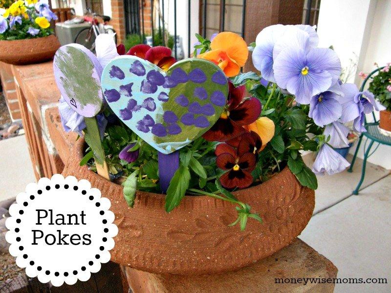 Plant Pokes - easy DIY craft gardening