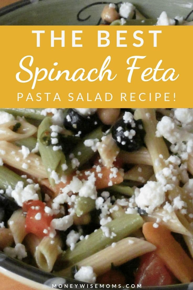 This Spinach Feta Pasta Salad is one of my most-requested recipes! It's one of our family favorites and we enjoy it year round.