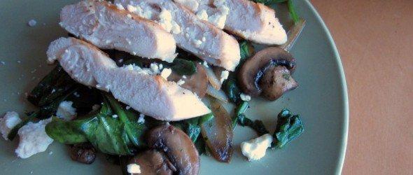 Warm Spinach-Mushroom Salad