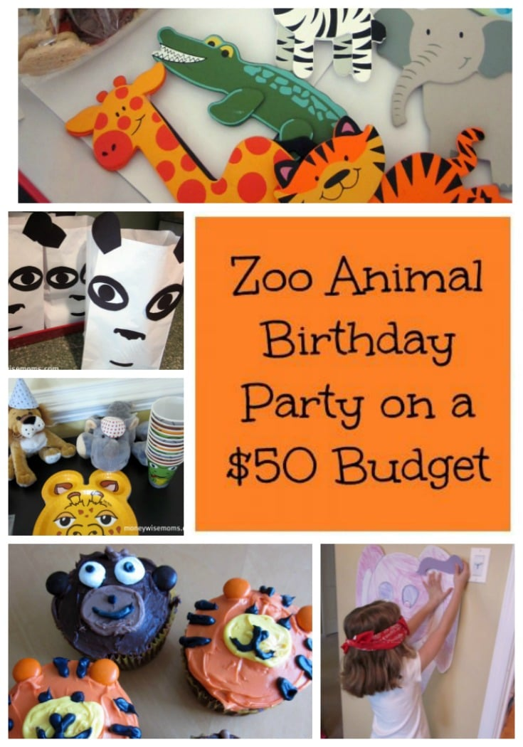 Zoo Animal Birthday Party on a $50 Budget - frugal birthday parties