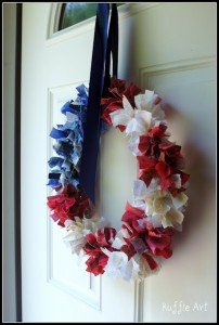 Rag Wreath from Ruffle Art | Quick Projects for the 4th of July | MoneywiseMoms