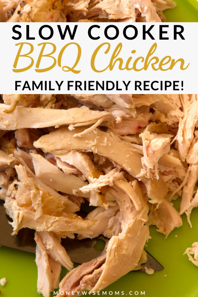This easy Slow Cooker BBQ Chicken comes out so tender. It makes the most delicious sandwiches! It's a great crockpot recipe for all year round!