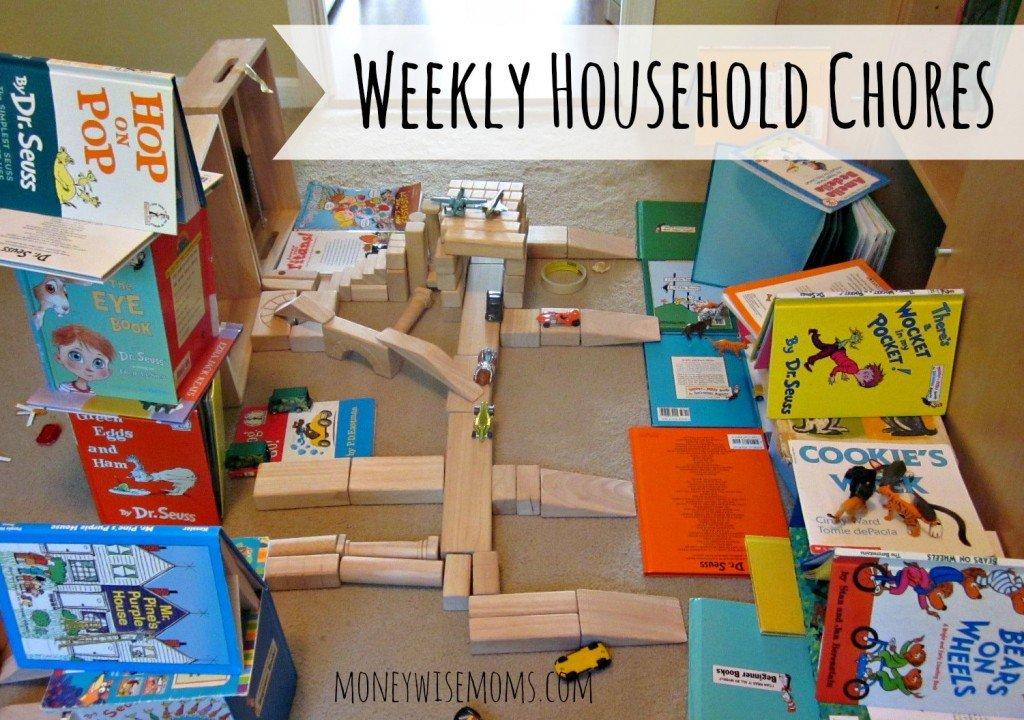 Weekly Household Chores via @MoneywiseMoms