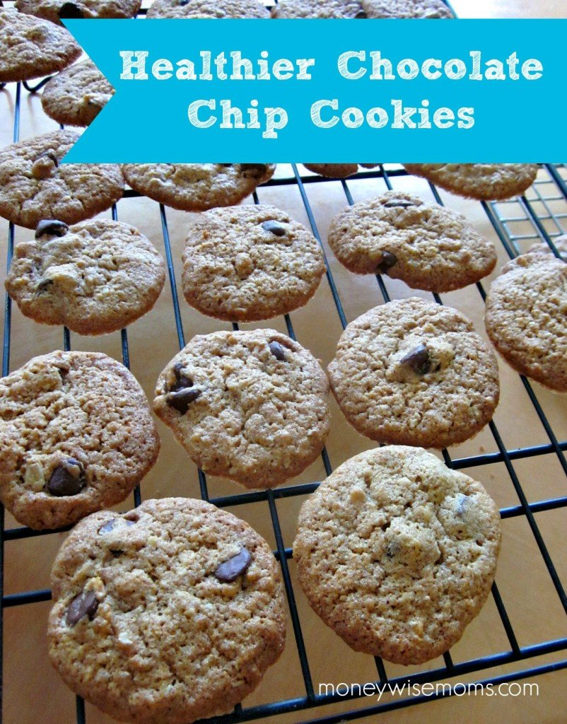 Healthier Chocolate Chip Cookies #recipe via @MoneywiseMoms