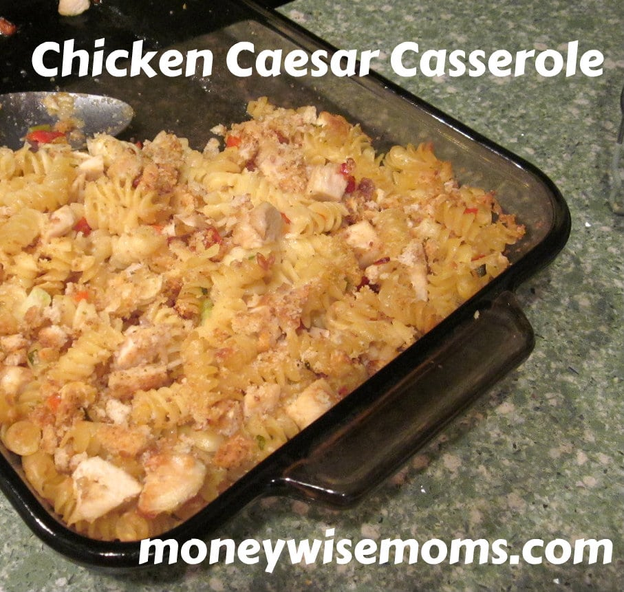 Chicken Caesar Casserole--I keep cooked, cubed chicken in the freezer to making prepping recipes like this easier