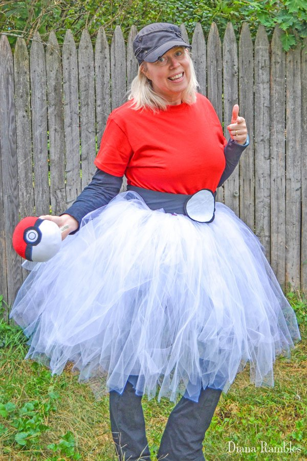 DIY Pokemon Ball Tutu Costume