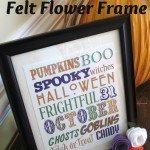 Halloween Felt Flower Frame