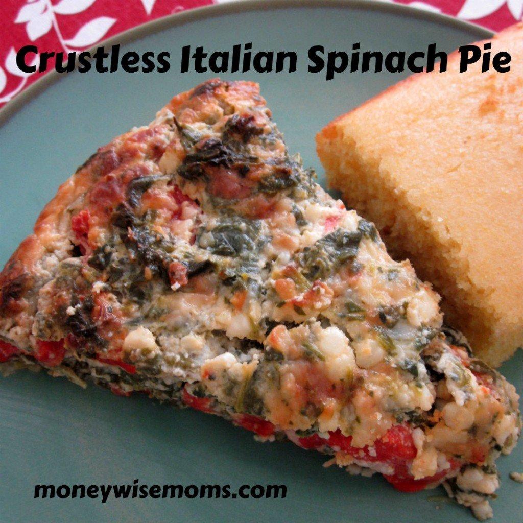 crustless italian spinach pie