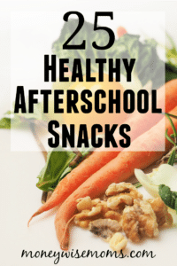 Healthy Afterschool Snacks - lots of peanut free ideas for tweens and teens