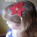 Poinsettia Headband: Mod Podge Holiday Shapes