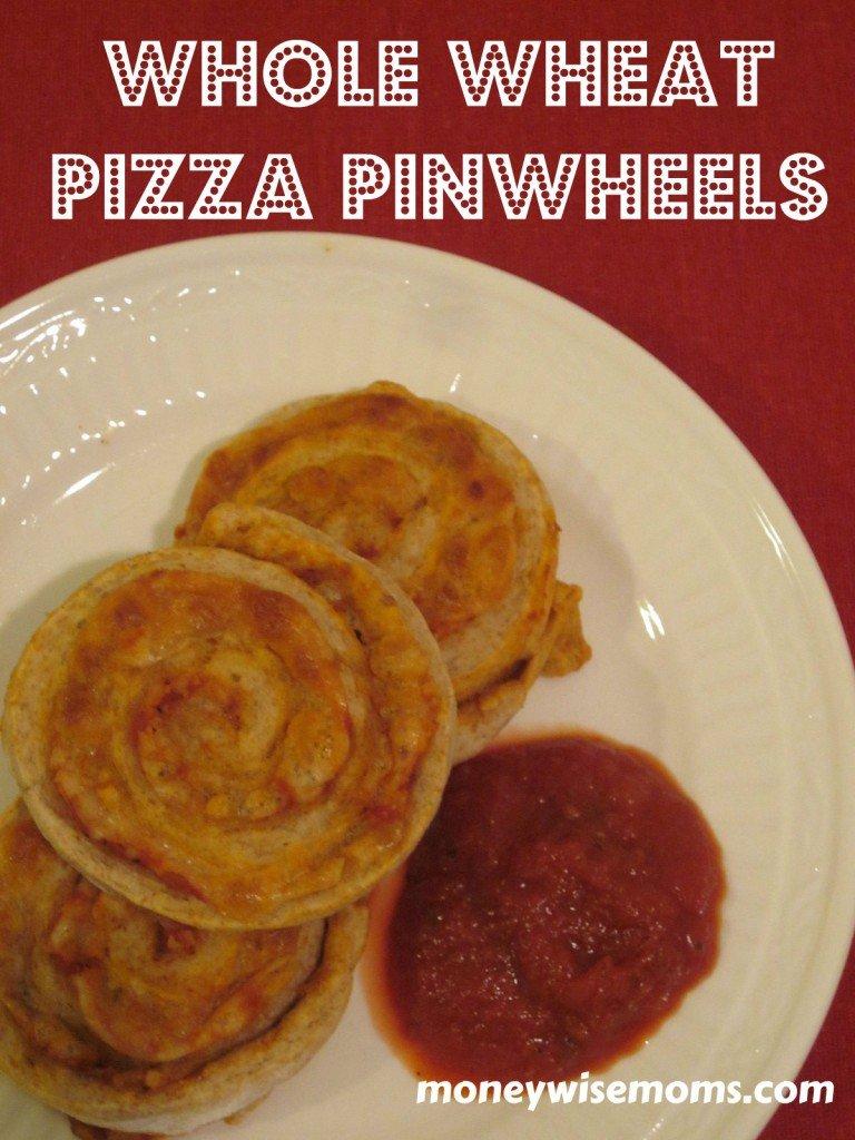 Whole Wheat Pizza Pinwheels #recipe from MoneywiseMoms.com