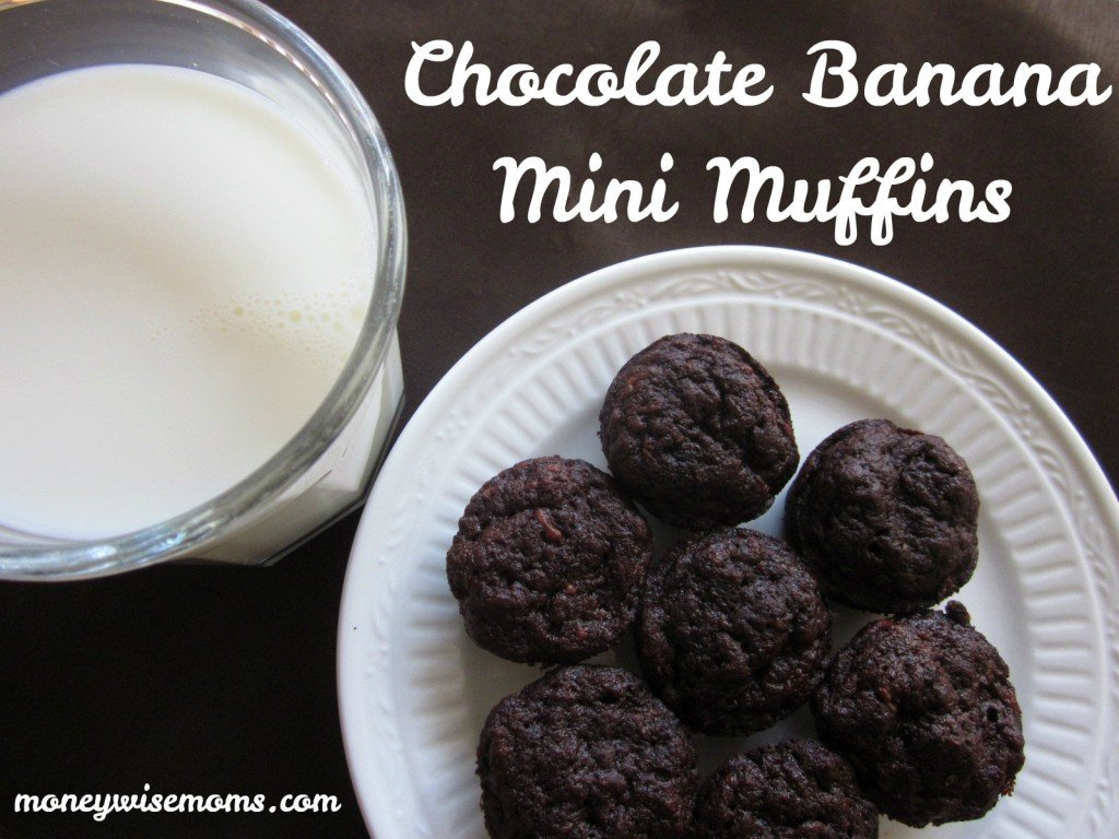 Chocolate Banana Mini Muffins