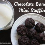 Chocolate Banana Mini Muffins