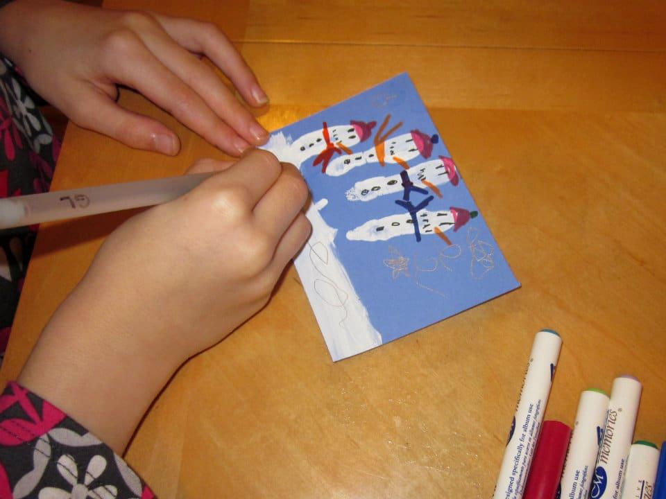 Snowmen Thank You Cards via @MoneywiseMoms