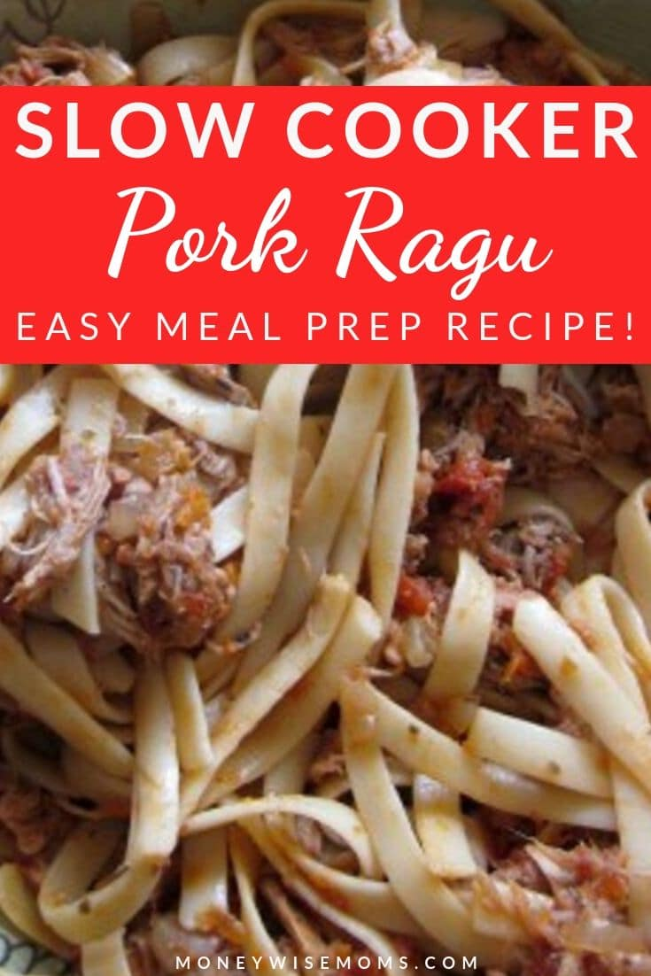 Once you try this Slow Cooker Pork Ragu & Fettuccine, you'll want to add to your meal plan! The great thing about slow cooker dinner recipes is that you don't have to do any of the hard work. The slow cooker does the heavy lifting and you just reap the rewards.