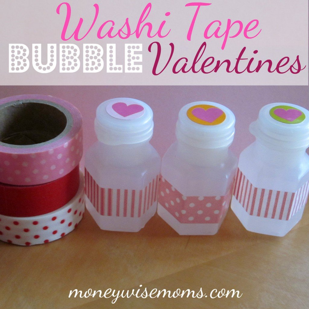 washi tape bubble valentines