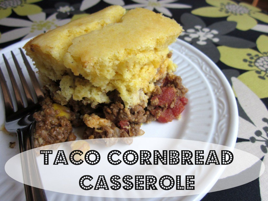 Taco Cornbread Casserole | --a revamped recipe using whole foods instead of processed/convenience