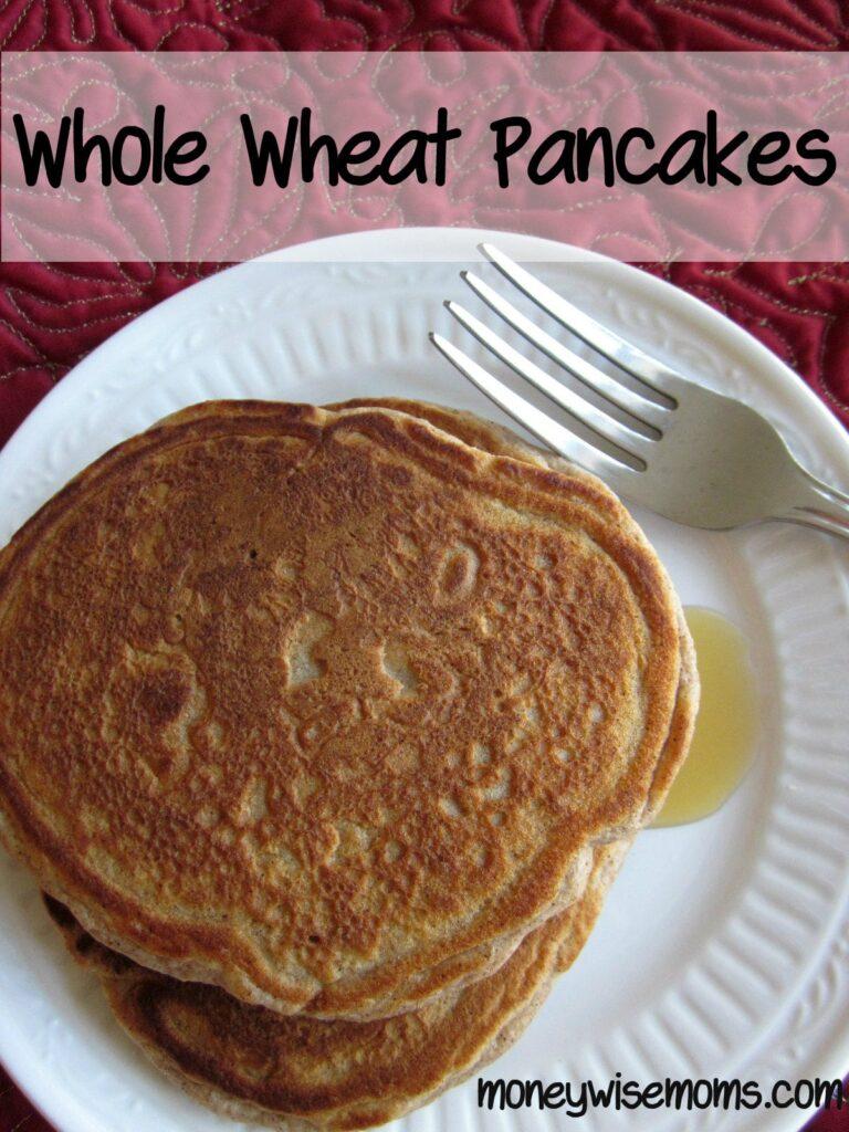 Whole Wheat Pancakes #Recipe | MoneywiseMoms