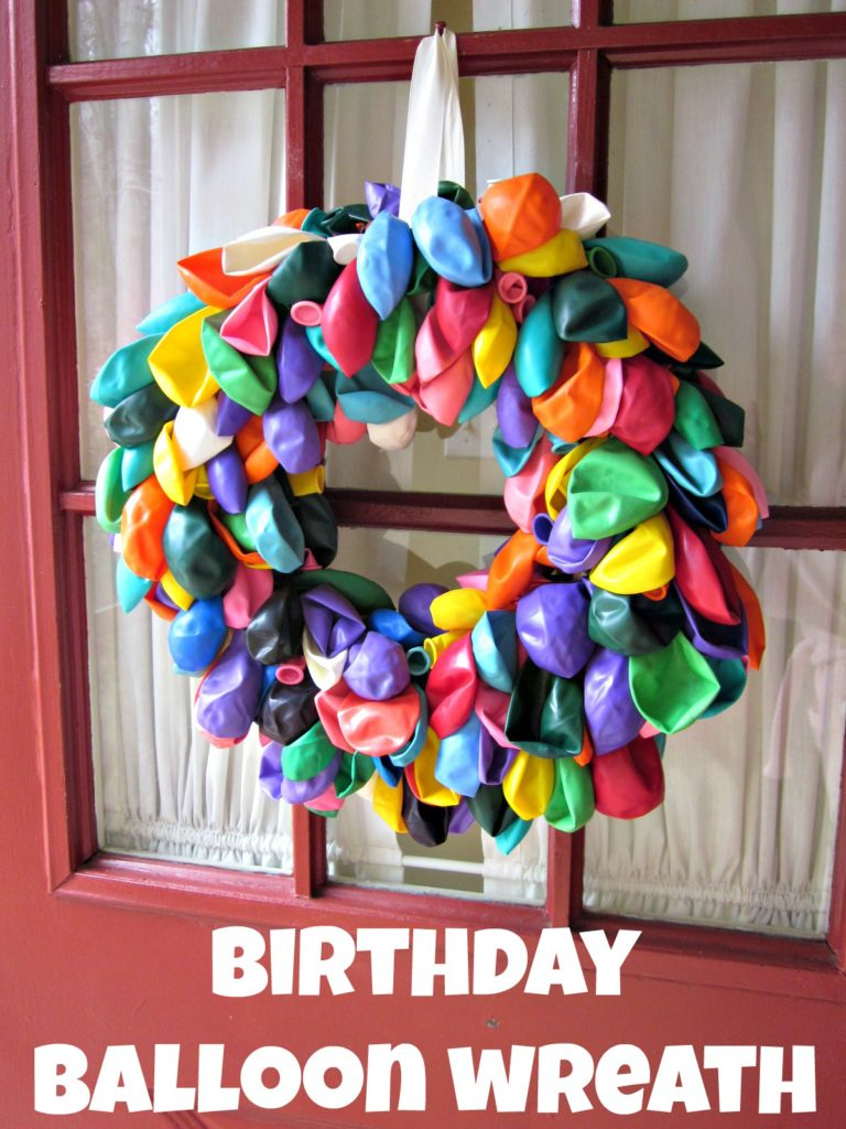 Birthday Balloon Wreath--easy enough for a noncrafter to make, and it can be used for years of celebrations!