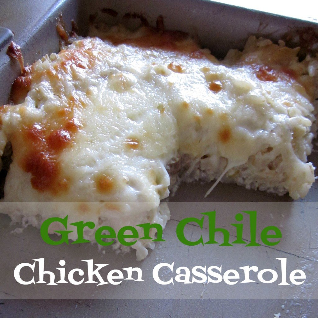 Green Chile Chicken Casserole #recipe via @MoneywiseMoms