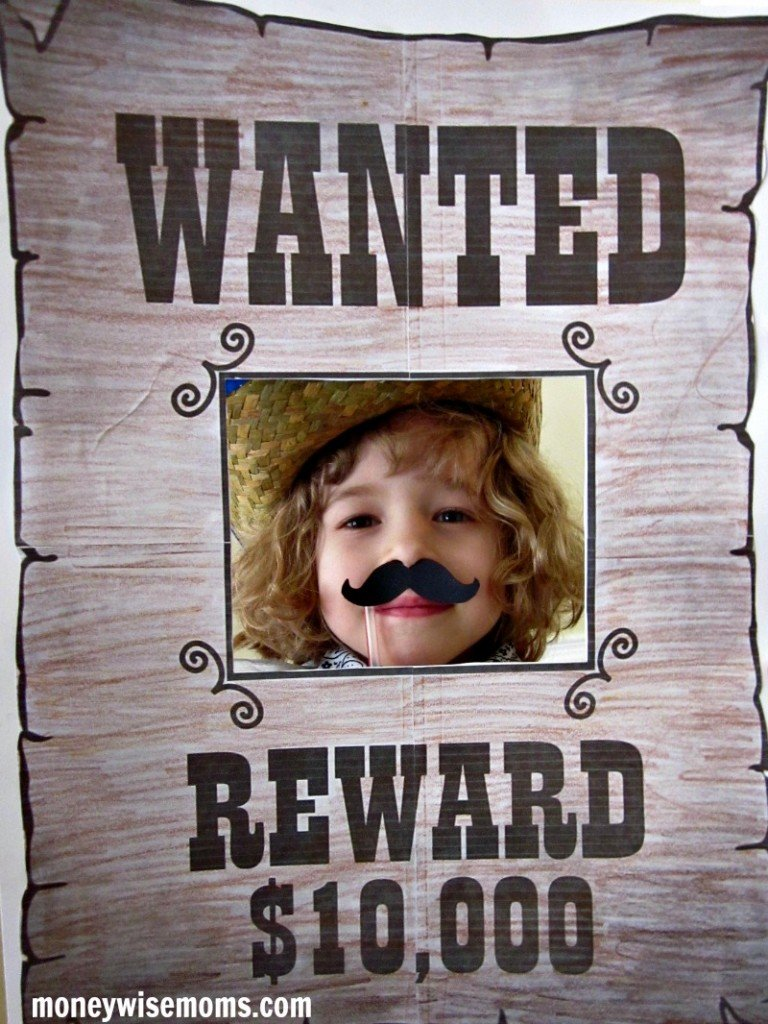 Wanted Poster Photo Prop | Western Birthday Party | MoneywiseMoms