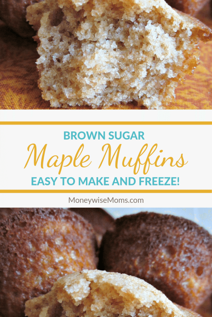 Brown sugar maple muffins make a great breakfast on the go. They are also an awesome easy muffin recipe that the whole family can enjoy for a sweet treat. These are a fall favorite dessert in our home!