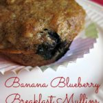 Banana Blueberry Breakfast Muffins