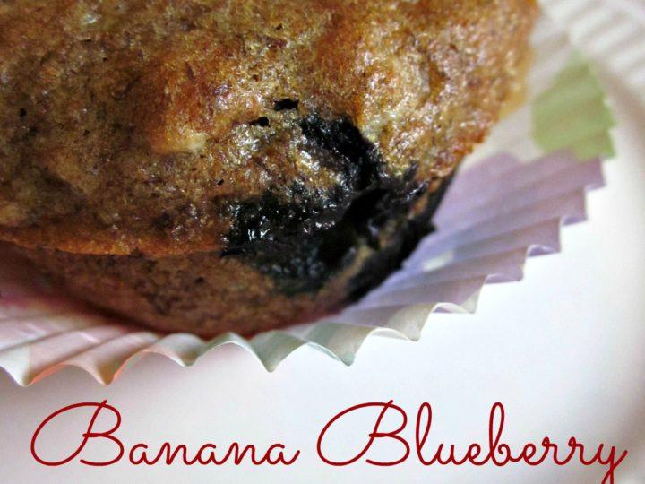 Banana Blueberry Breakfast Muffins