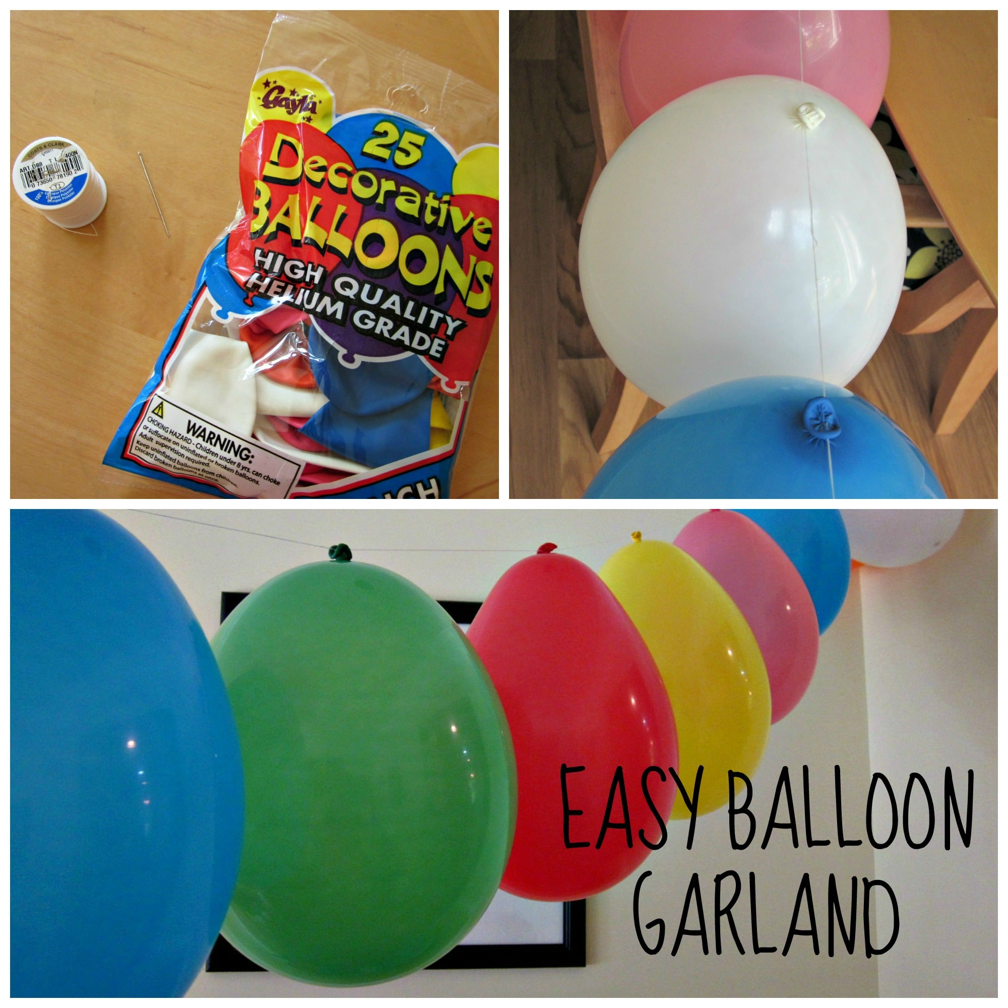 Easy Balloon Garland