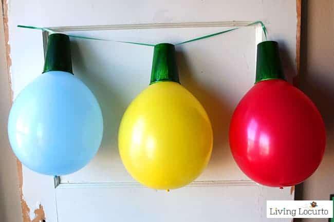 Giant Balloon Christmas Lights Garland