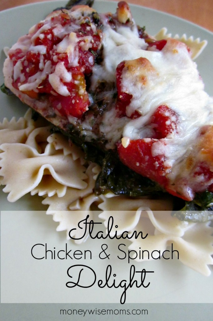 Italian Chicken & Spinach Delight   MoneywiseMoms   An amazingly easy layered meal that your family will love!