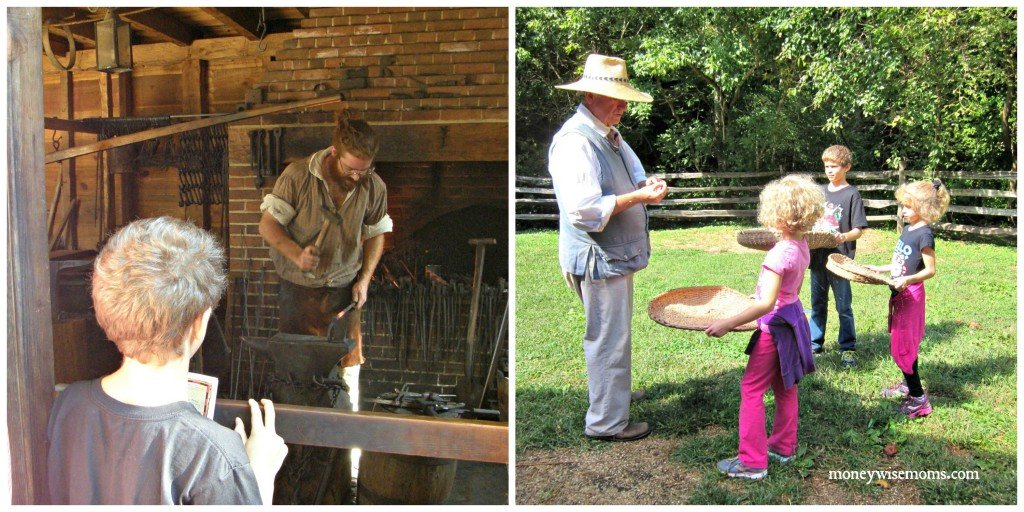 Living History Collage -- Mount Vernon with Kids