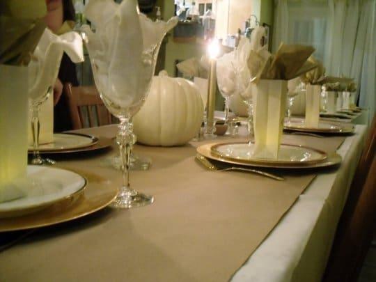 Frugal Thanksgiving Decor | Kraft Paper Table Runner via @thekitchn
