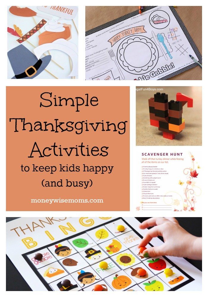 Simple Thanksgiving Activities to Keep Kids Happy (and Busy) | MoneywiseMoms