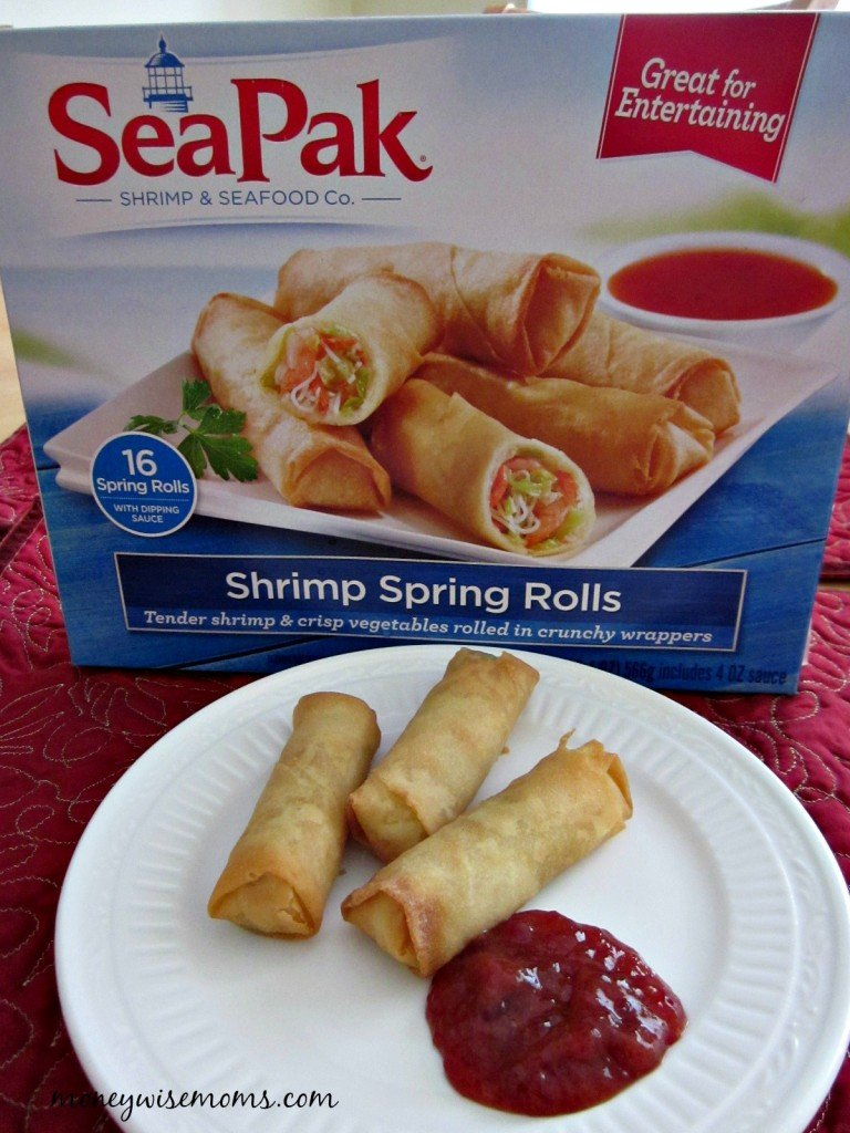 SeaPak Shrimp Rolls | Holiday Appetizers | MoneywiseMoms #PakTheParty #shop
