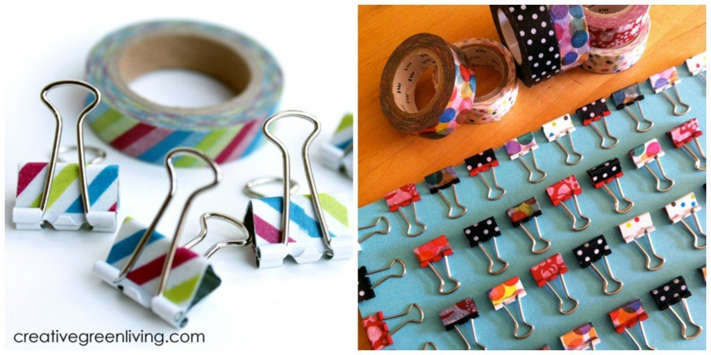 Gifts Kids Can Actually Make | Washi Tape Binder Clips
