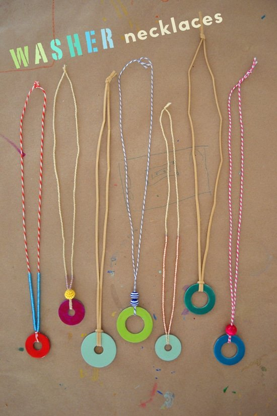 Gifts Kids can Actually Make | Washer Necklaces via @smallforbig