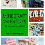 Minecraft Valentines {9 Easy Printables}