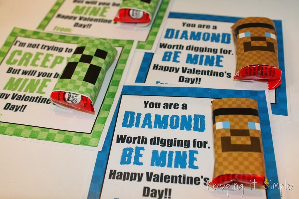 photograph about Minecraft Printable Valentines identify Minecraft Valentines 9 Very simple Printables - Moneywise Mothers