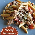 Turkey Parmesan Pasta {Easy Stovetop Meal}