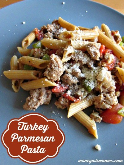Turkey Parmesan Pasta | Ground Turkey Meals