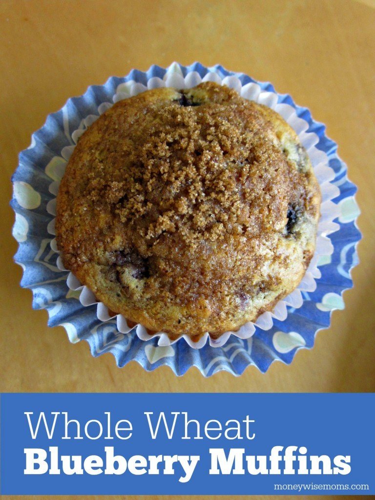 Whole Wheat Blueberry Muffins | Simple #recipe with honey, cinnamon and whole wheat #realfood | MoneywiseMoms