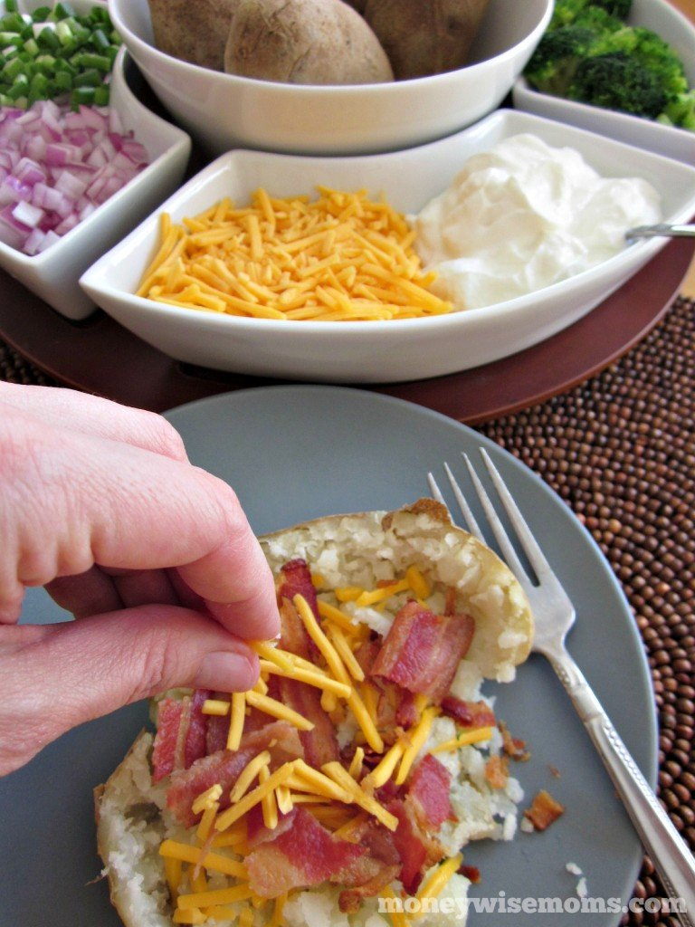Baked Potato Bar | perfect for parties, potlucks and family reunions this #summer! | MoneywiseMoms