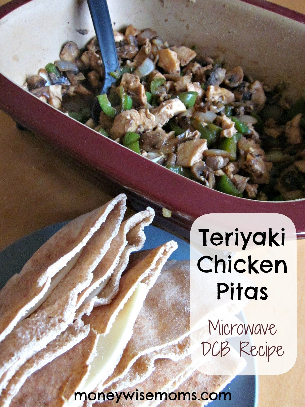 Teriyaki Chicken Pitas | Microwave DCB #recipe #realfood | MoneywiseMoms