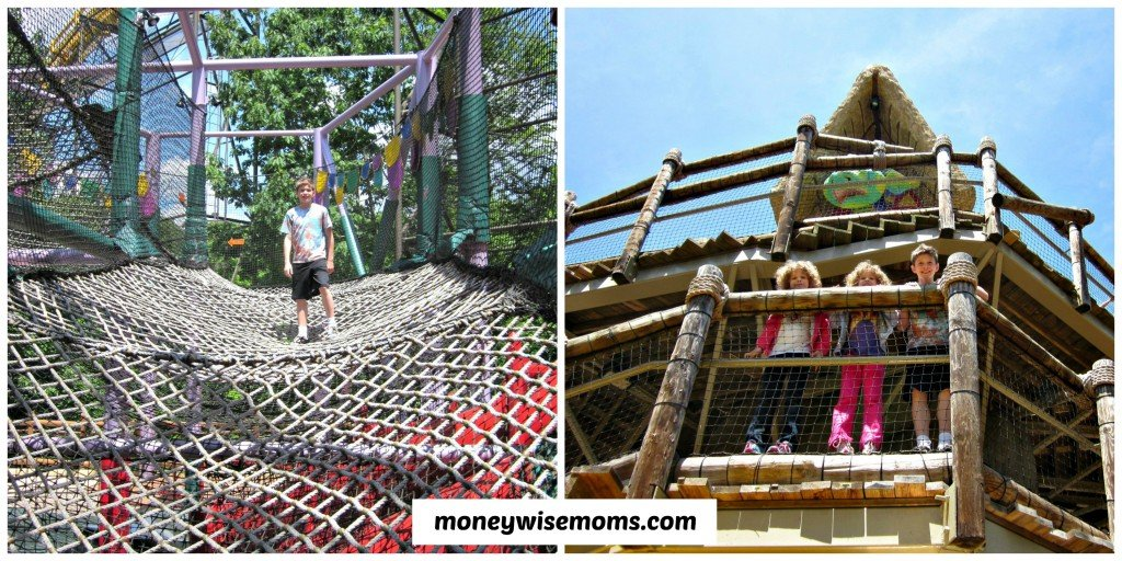 Treehouse Climbing at Busch Gardens Williamsburg #familytravel #buschgardens | MoneywiseMoms
