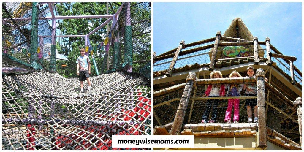 Treehouse Climbing at Busch Gardens Williamsburg #familytravel #buschgardens | MoneywiseMoms