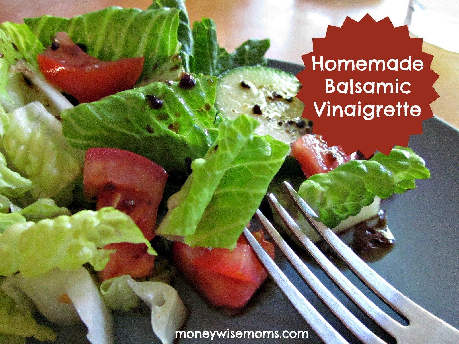 Homemade Balsamic Vinaigrette #realfood #recipe | MoneywiseMoms