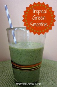 Tropical Green Smoothies with Almond Milk #SilkAlmondBlends #shop | MoneywiseMoms