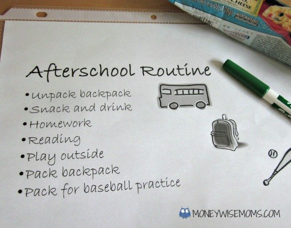 Afterschool Routine   Getting Kids on a Morning Routine   MoneywiseMoms