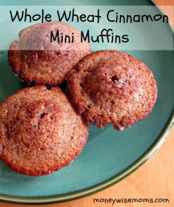 Whole Wheat Cinnamon Muffin Recipe | Easy #realfood #recipes for lunchboxes and afterschool snacks | MoneywiseMoms